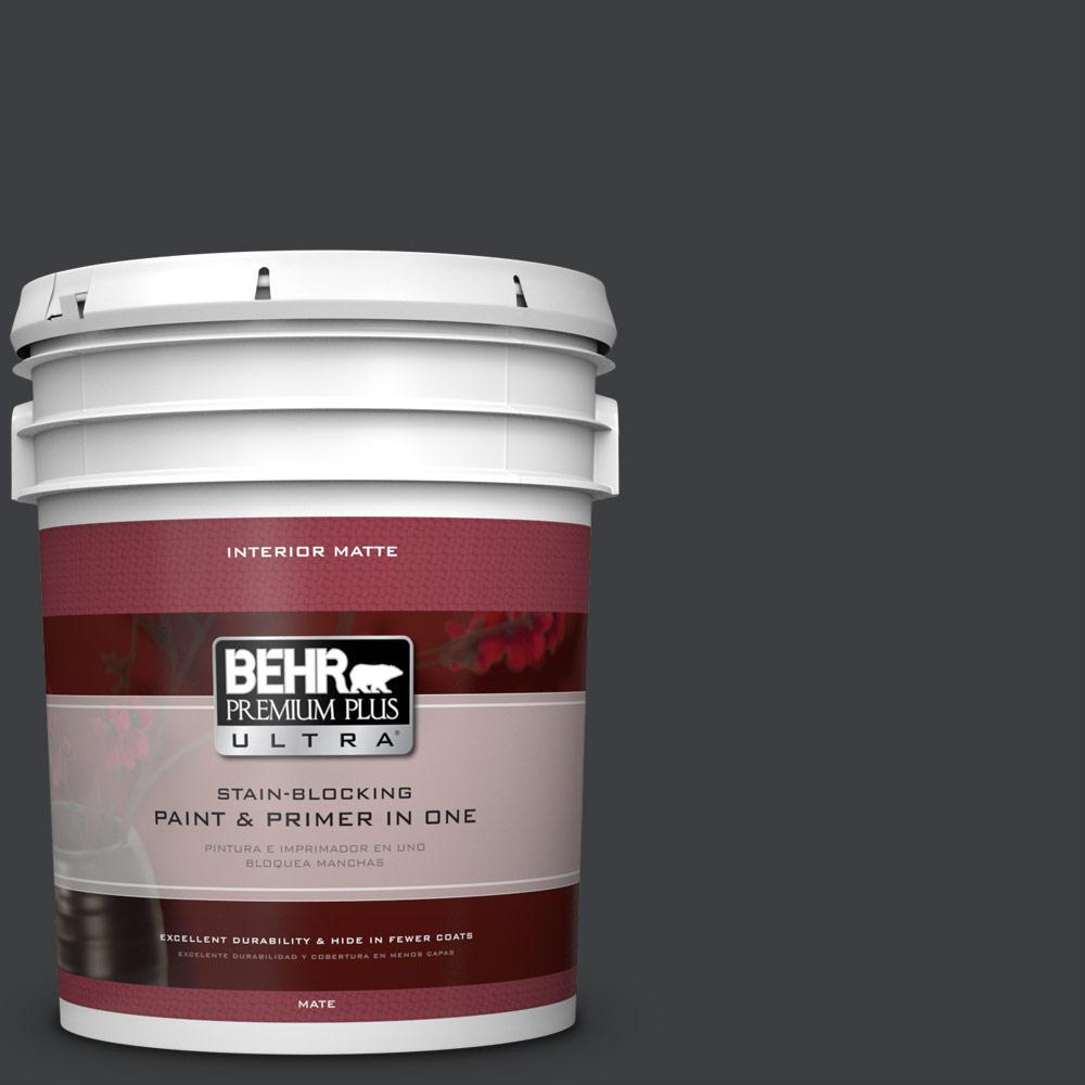 5 gal. #N520-7 Carbon Matte Interior Paint