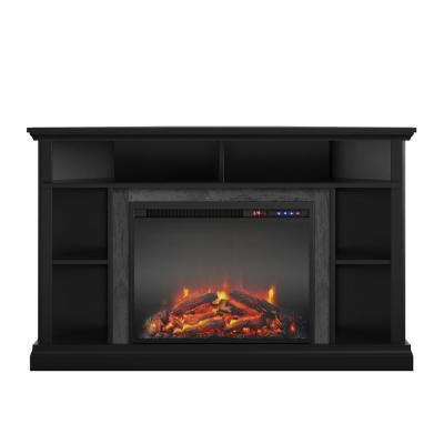 Parlor 47.625 in. Electric Corner Fireplace for TVs up to 50 in. in Black