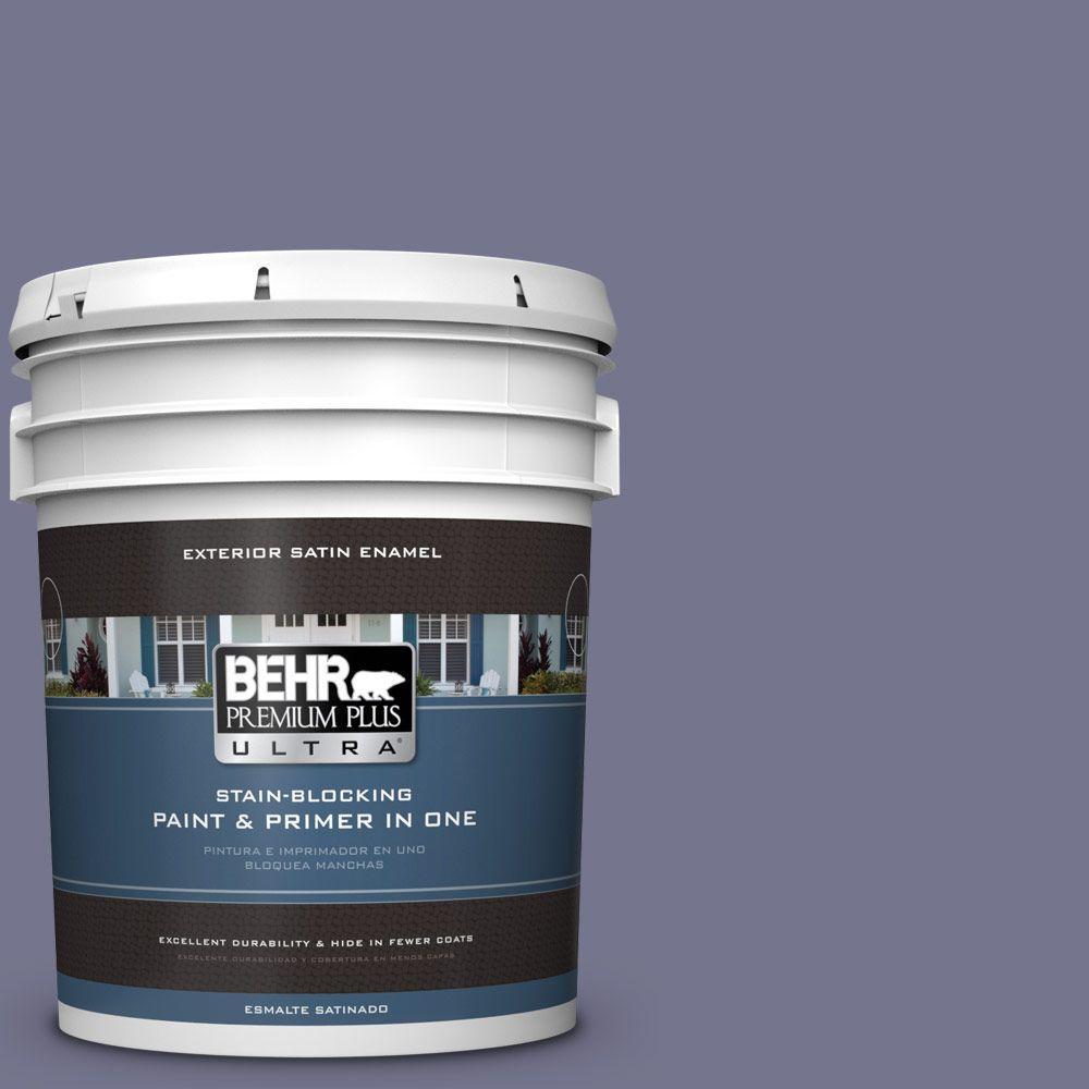 BEHR Premium Plus Ultra 5-gal. #630F-5 Vintage Satin Enamel Exterior Paint