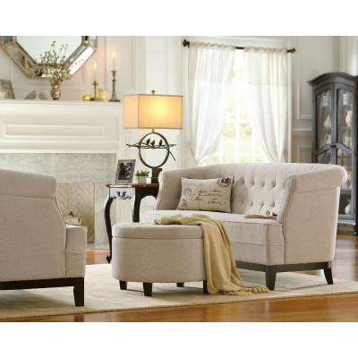 Emma Textured Natural Chenille Loveseat