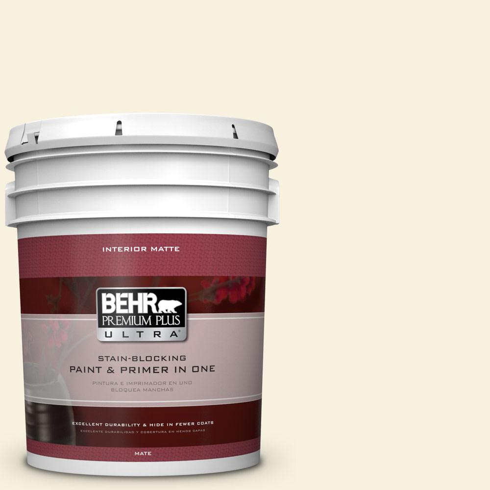BEHR Premium Plus Ultra 5 gal. #340E-1 Parmesan Flat/Matte Interior Paint