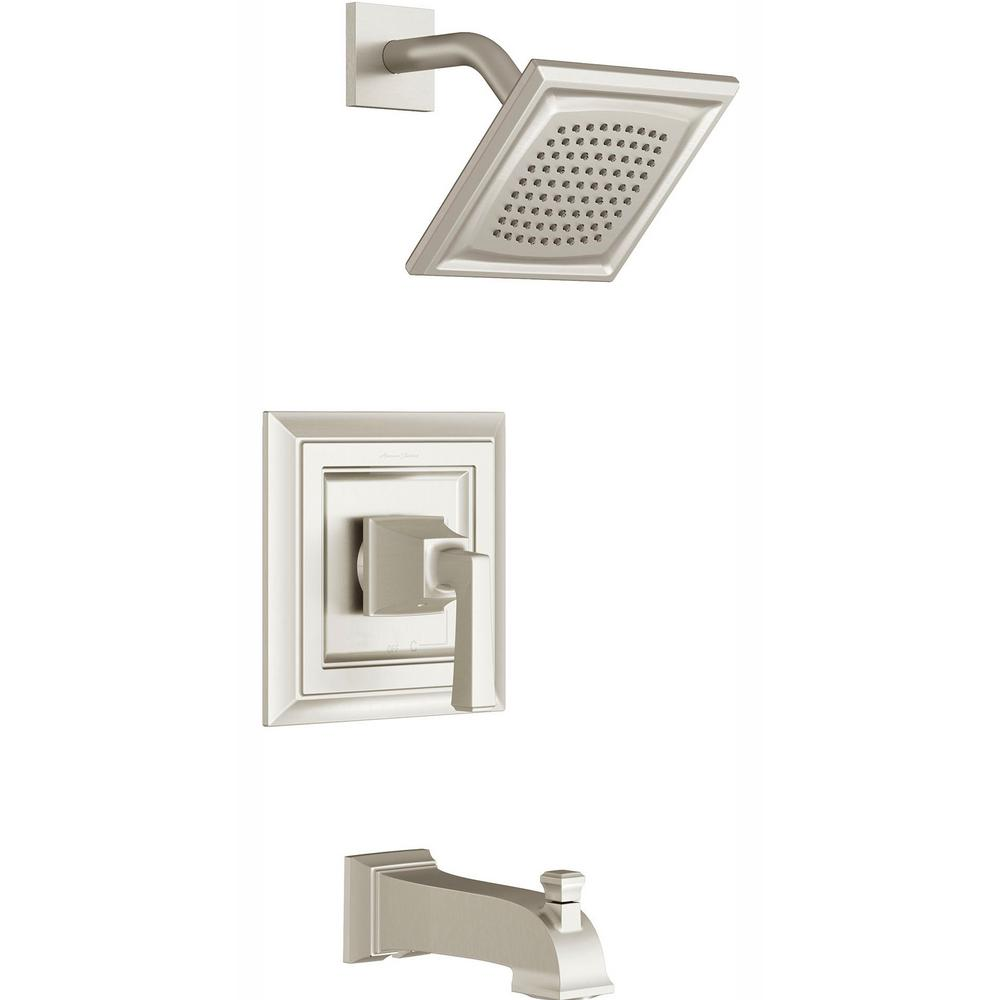 American Standard Town Square S Water Saving Tub and Shower Trim Kit for Flash Rough-in Valves in Brushed Nickel (Valve Not Included)
