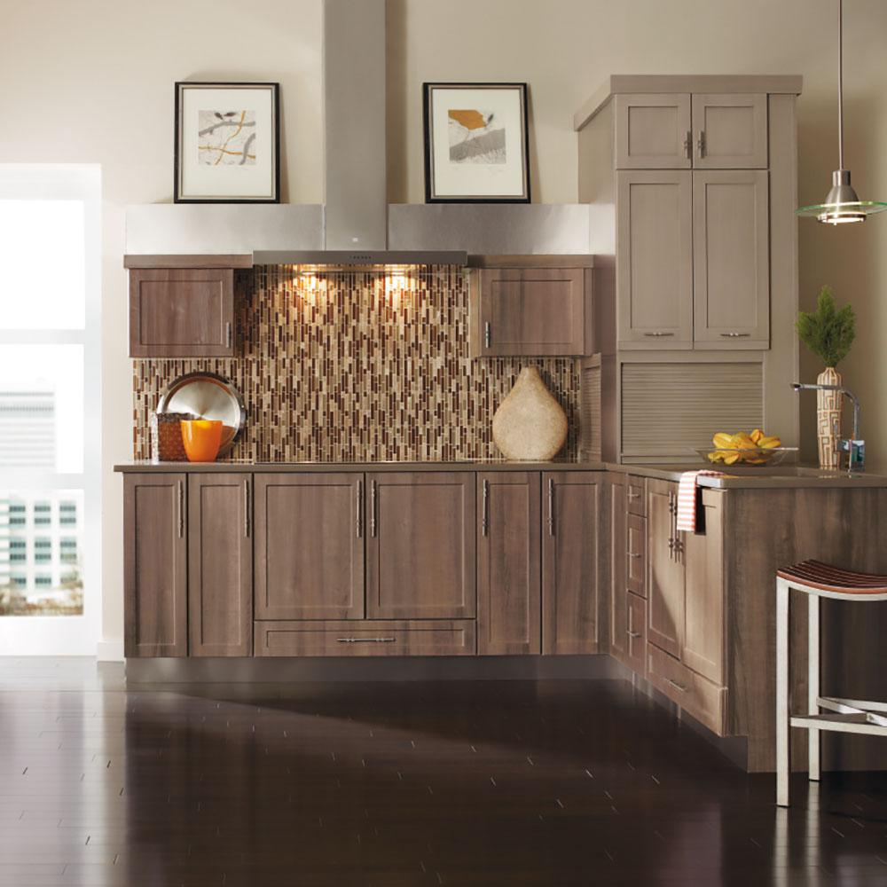 Thomasville Nouveau Custom Kitchen Cabinets Shown In Industrial Style Hdinstwhs The Home Depot