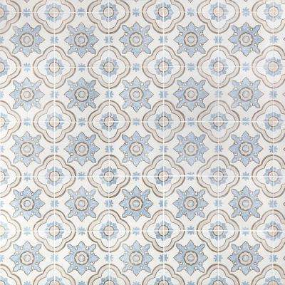 Valencia Multi-Color Encaustic 8 in. x 8 in. x 9mm Matte Porcelain Floor and Wall Tile (26 pieces / 11.19 sq. ft. / box)
