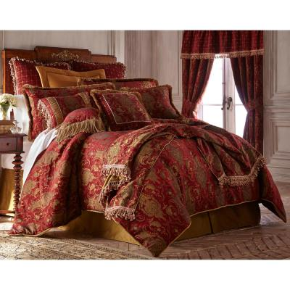 China Art 4-piece Red Queen Comforter Set