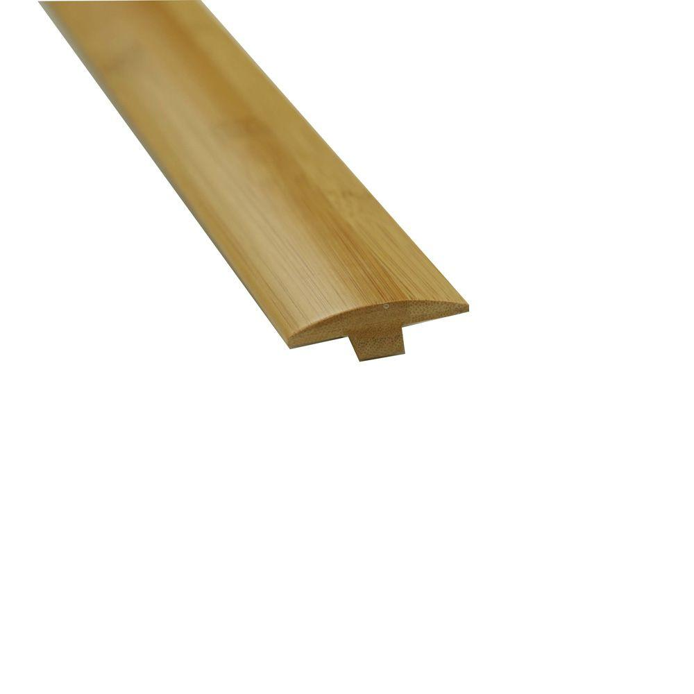 Islander Carbonized 5/8 in. Thick x 2 in. Wide x 78-3/4 in. Length Bamboo T-Molding