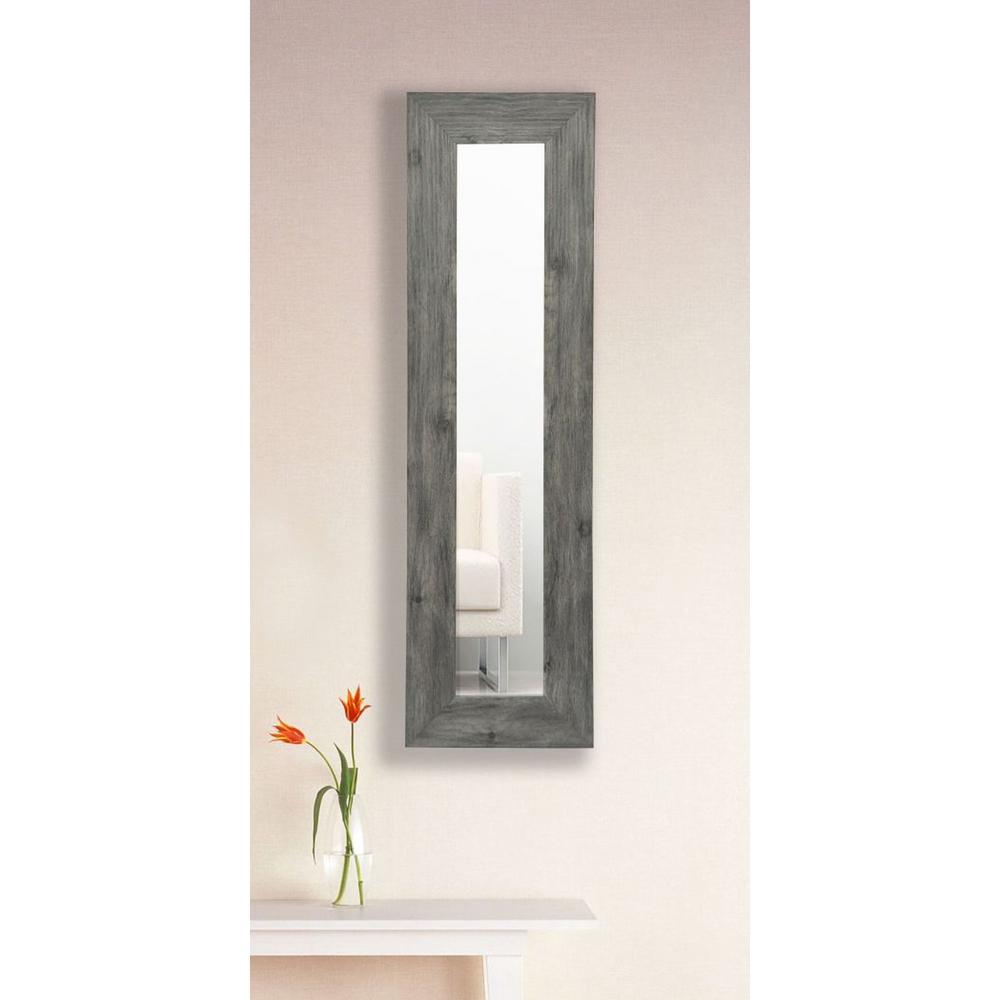 11.5 in. x 32.5 in. Gray Barnwood Vanity Mirror Single Panel