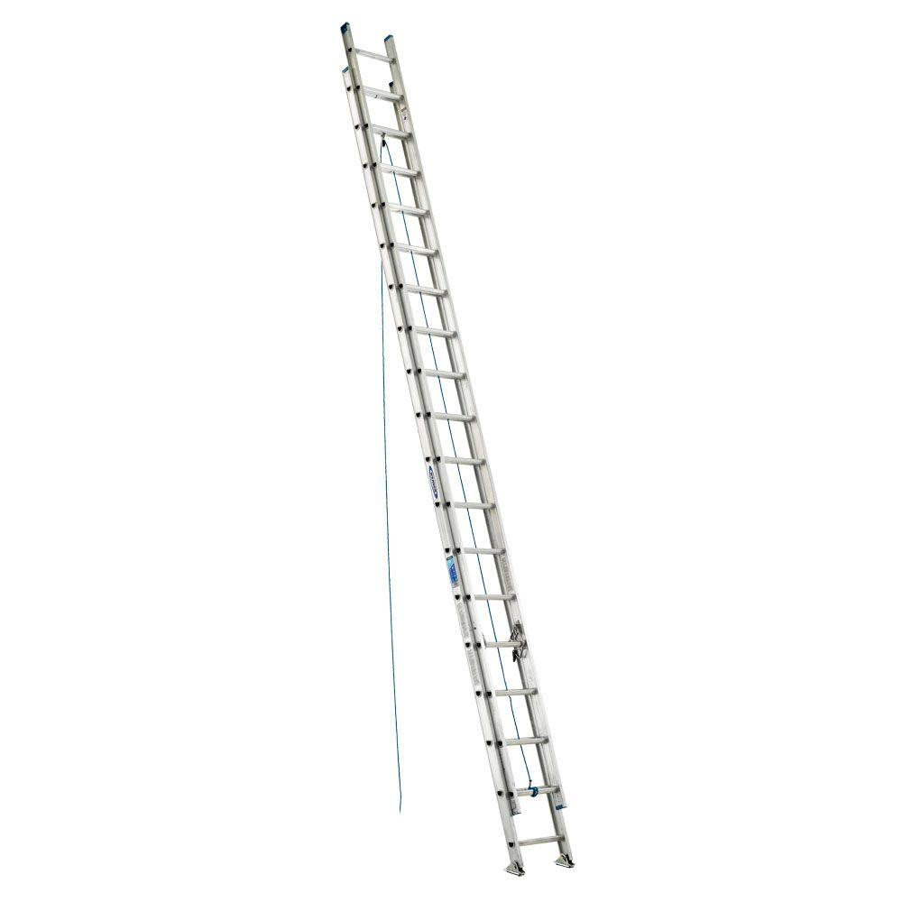 Werner 36 ft. Aluminum D-Rung Extension Ladder with 250 lb. Load Capacity Type I Duty Rating
