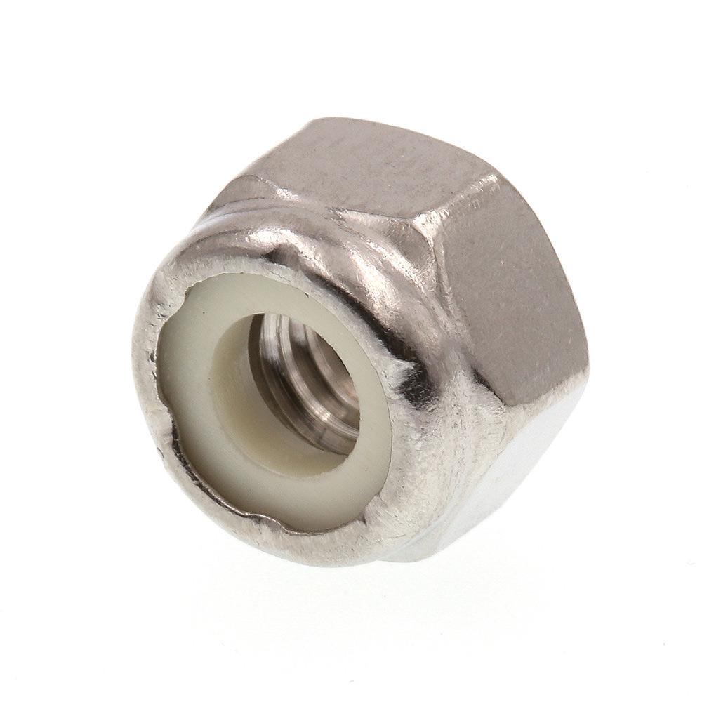 1/4 in.-20 Grade 18-8 Stainless Steel Nylon Insert Lock Nut (20-Pack)