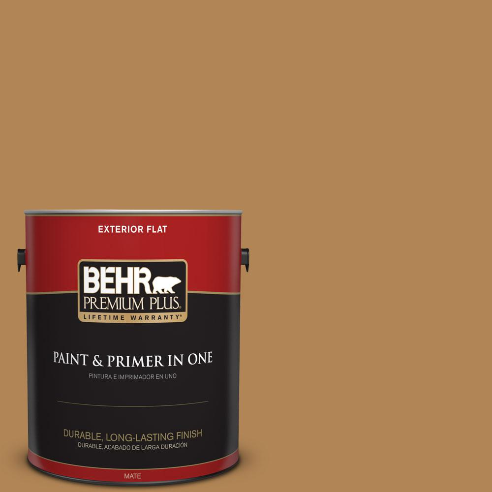 1-gal. #S290-6 Golden Rice Flat Exterior Paint