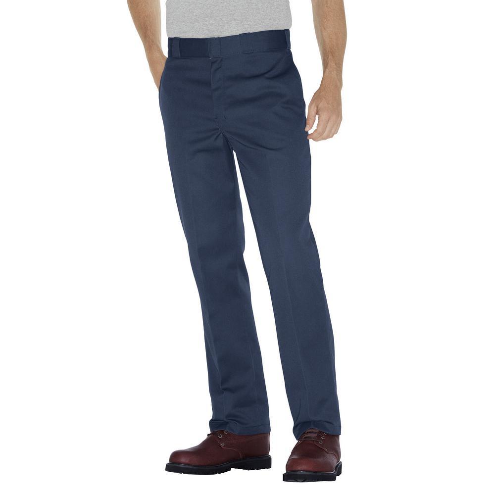 Original 874 Men's 36 in. x 32 in. Navy Work Pants