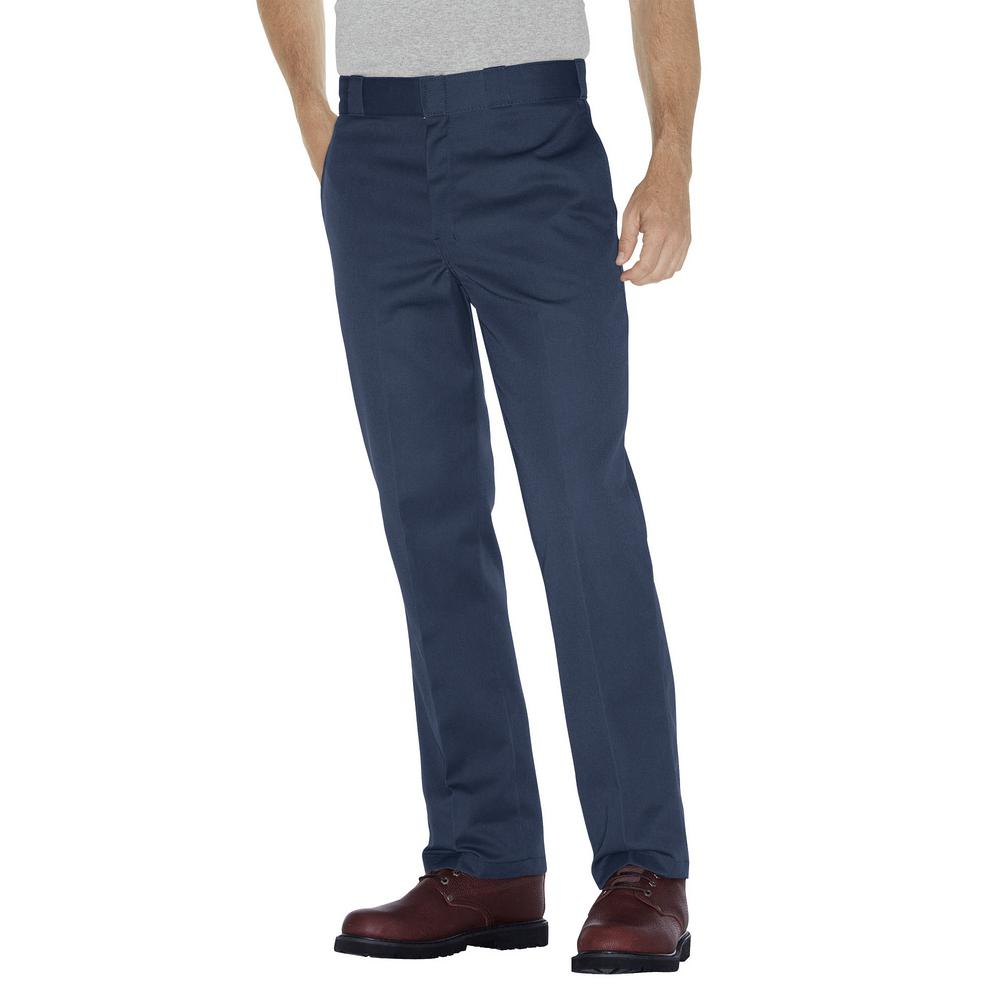 Original 874 Men's 38 in. x 32 in. Navy Work Pants