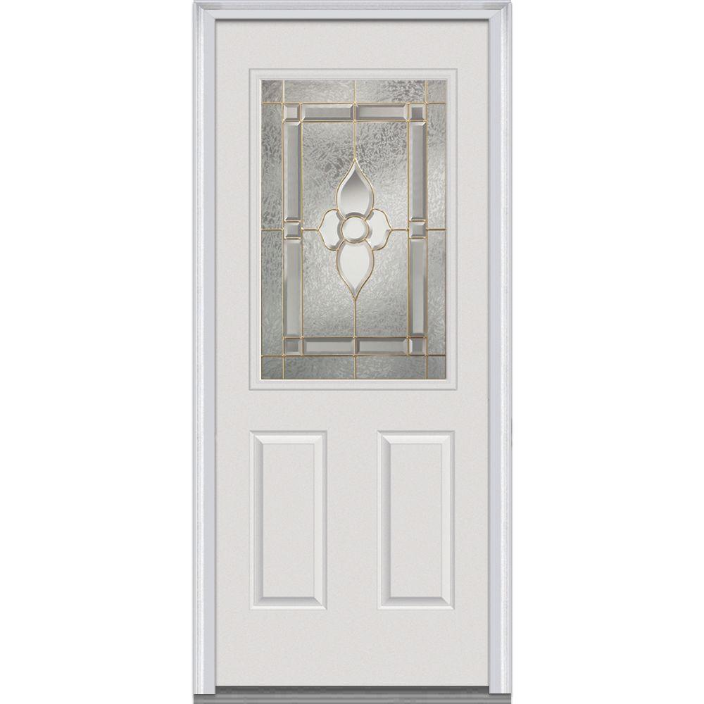 Mmi Door 32 In X 80 In Master Nouveau Left Hand Inswing 12 Lite