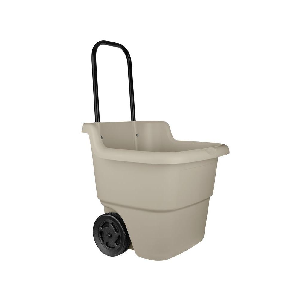 Suncast 15 Gal. Portable Resin Taupe Lawn Cart