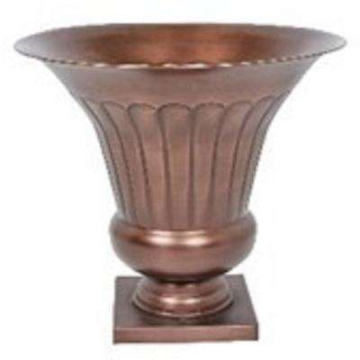 17.25 in. Antique Copper Metal Urn Planter