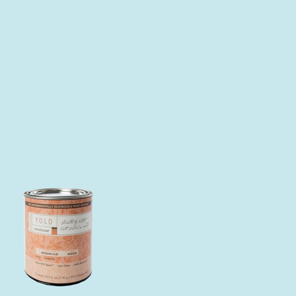 YOLO Colorhouse 1-Qt. Dream .01 Flat Interior Paint-DISCONTINUED