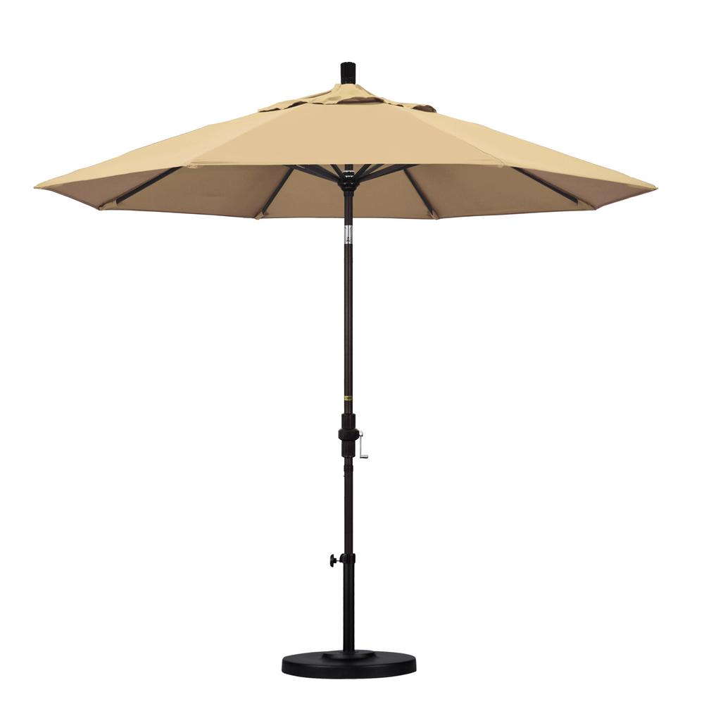 9 ft. Aluminum Collar Tilt Patio Umbrella in Beige Pacifica