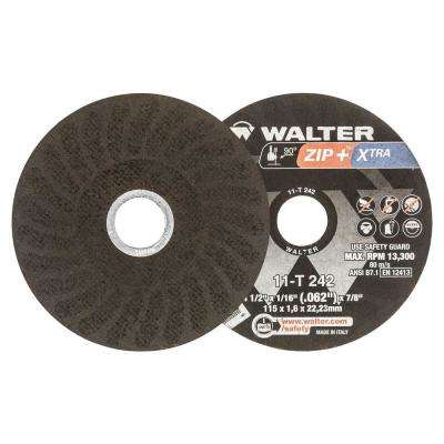 ZIP+Xtra 4.5 in. x 7/8 in. Arbor x 1/16 in. T1 Cutting Wheel (25-Pack)
