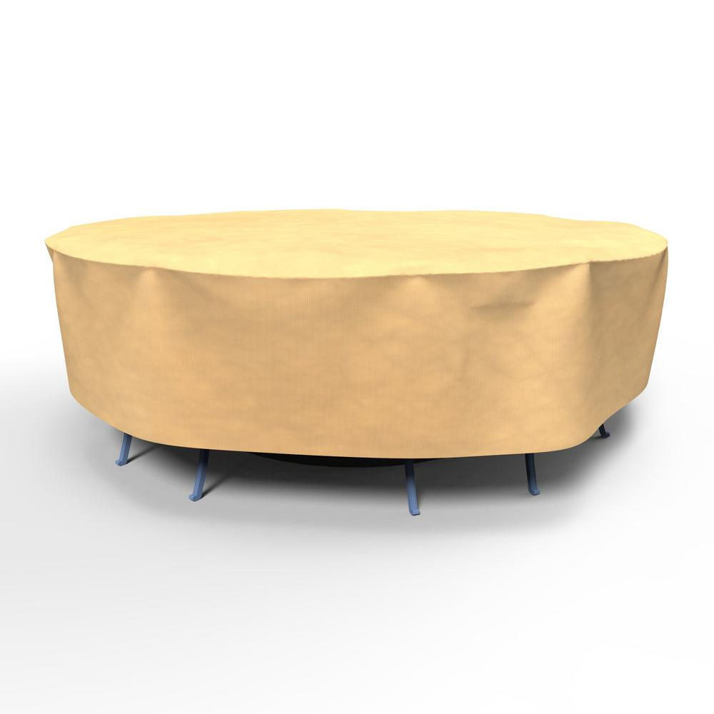 Extra Large Round Table Cloth.Budge All Seasons Extra Large Round Patio Table And Chairs Combo Covers
