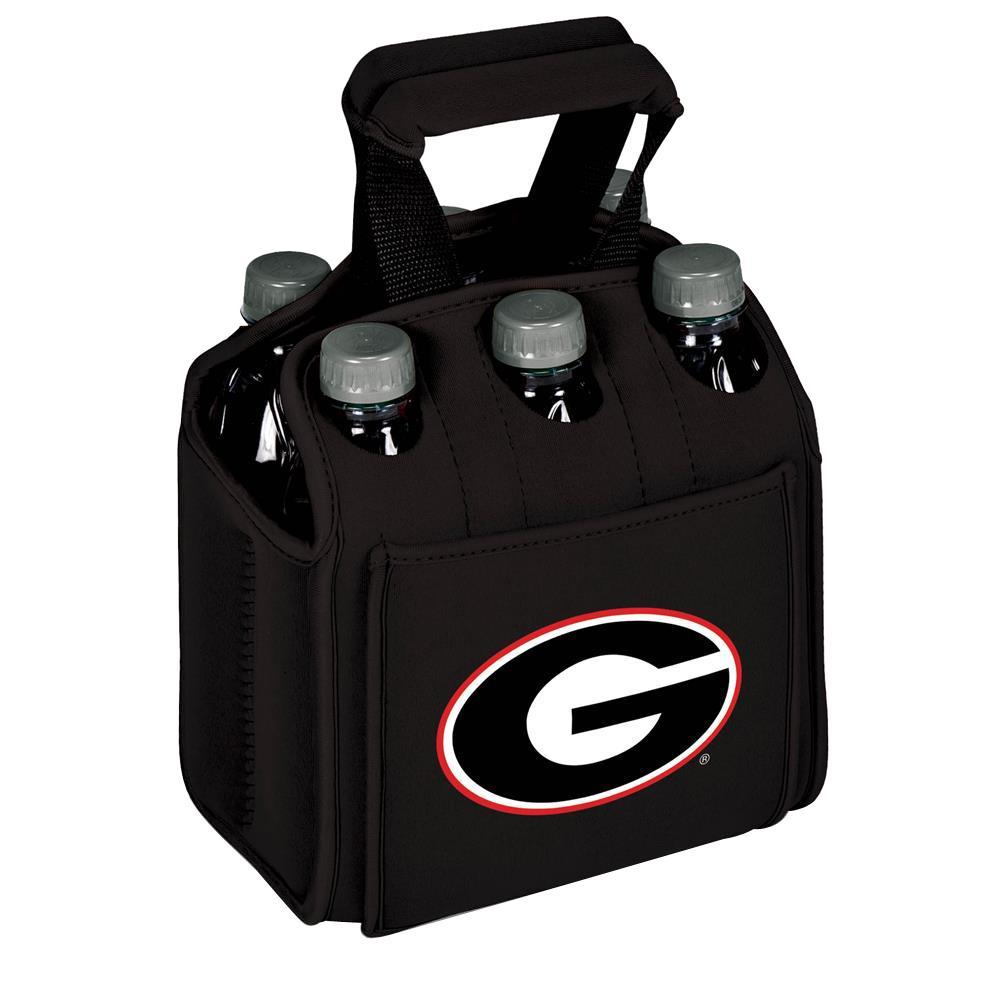 University of Georgia Buldogs 6-Bottles Black Beverage Carrier