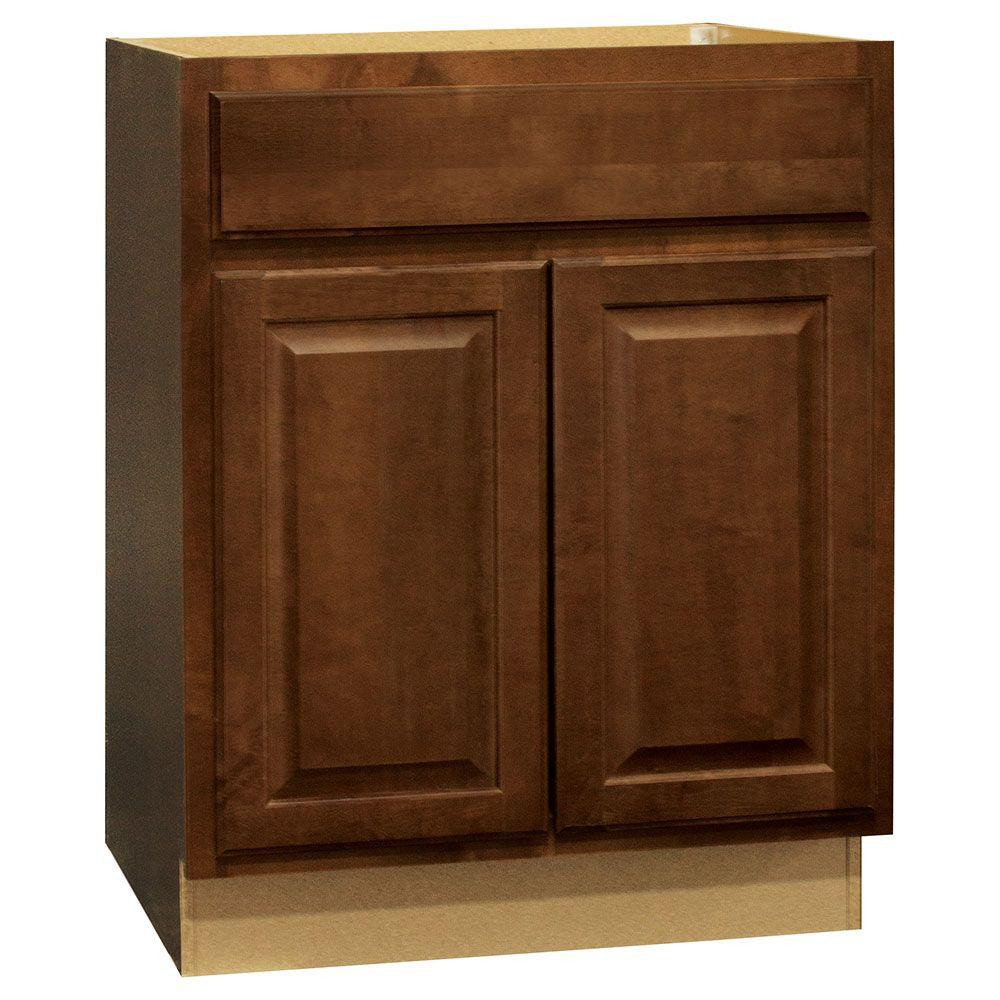 Hampton Assembled 27x34.5x24 in. Base Kitchen Cabinet with Ball-Bearing Drawer