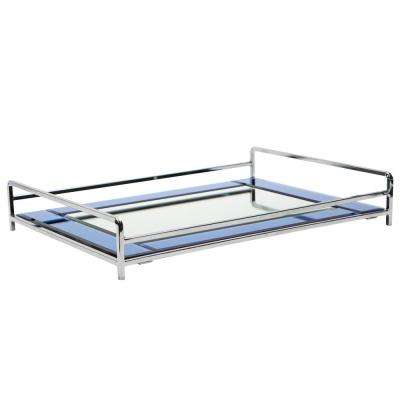 Vanity Tray with Blue Mirror
