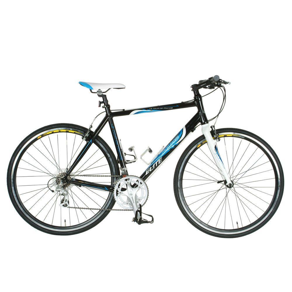 Tour de France Packleader Elite Fitness Bicycle, 700c Wheels, Men's Bike, 55 cm Frame in Black