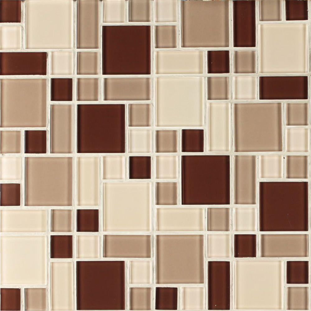 - Instant Mosaic Beige And Brown 12 In. X 12 In. X 6 Mm Peel And