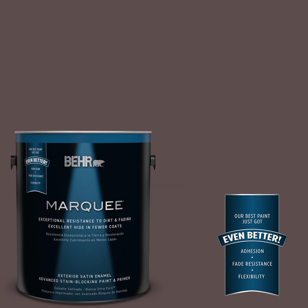 1 gal. #MQ1-43 Piano Brown Satin Enamel Exterior Paint