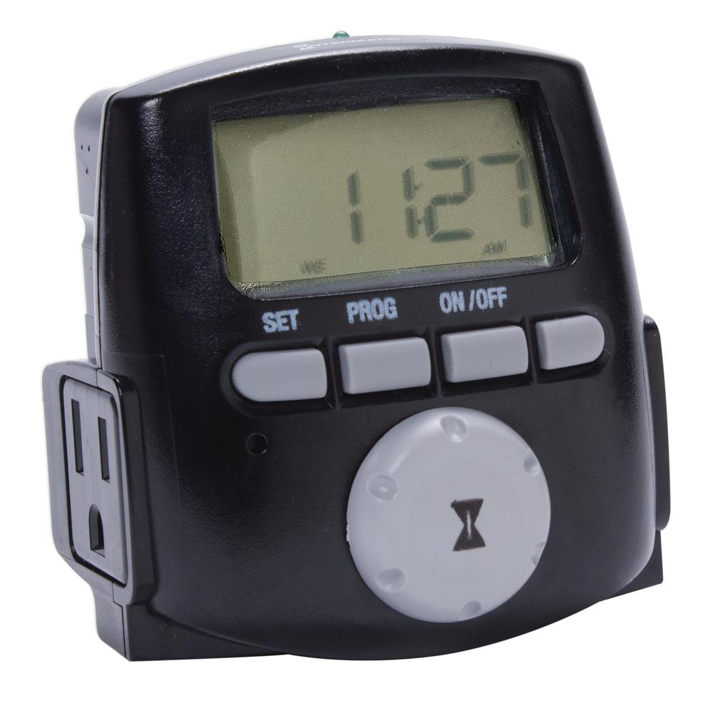 Intermatic 1200 Watt 7 Day Digital Astronomic Landscape Timer Black Push The Meter Into Mounting Flange From Back Until It