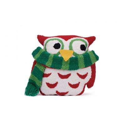 13 in. H Hooked Pillow, 3D Owl