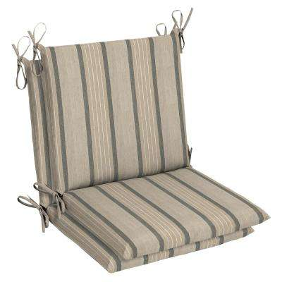 Sunbrella Cove Pebble Outdoor Dining Chair Cushion (2 Pack)