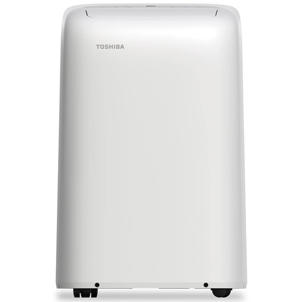 Toshiba 12,000 BTU (8,000 BTU, DOE) 115-Volt Portable Air Conditioner with Dehumidifier Function and Remote Control in White-RAC-PD1212CRRU - The Home Depot