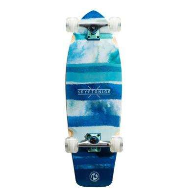 30.5 in. Blue Fish Super Fat Cruiser Complete Skateboard