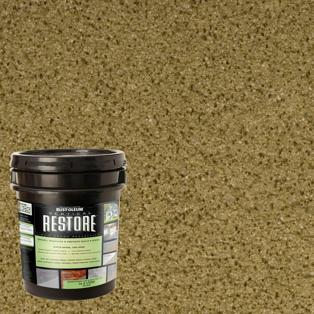 Rust-Oleum Restore 4-gal. Sage Vertical Liquid Armor Resurfacer for Walls and Siding