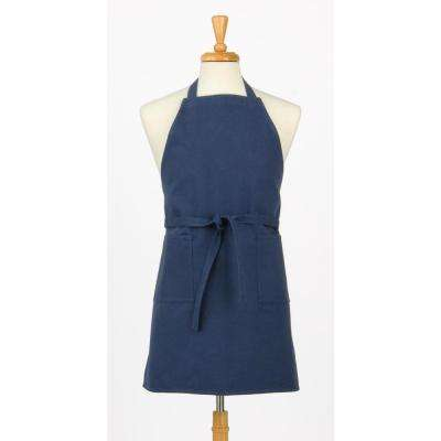 Two Pocket Canvas Chef's Apron, Slate Blue