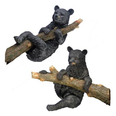 Up a Tree Hanging and Climbing Black Bear Cub Statue