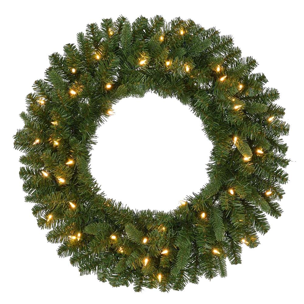 Pre Lit Battery Operated Led Sierra Nevada Artificial Christmas Wreath With Warm White Lights
