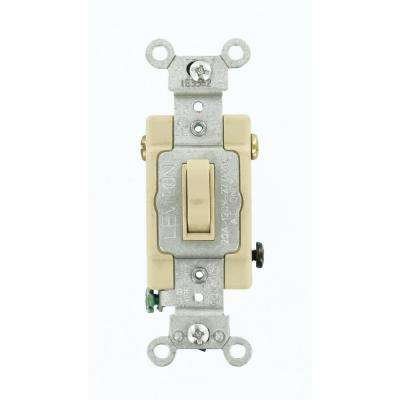 20 Amp Commercial Grade 3-Way Toggle Switch, Ivory