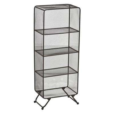 37.25 in. Brown Metal Storage Shelves
