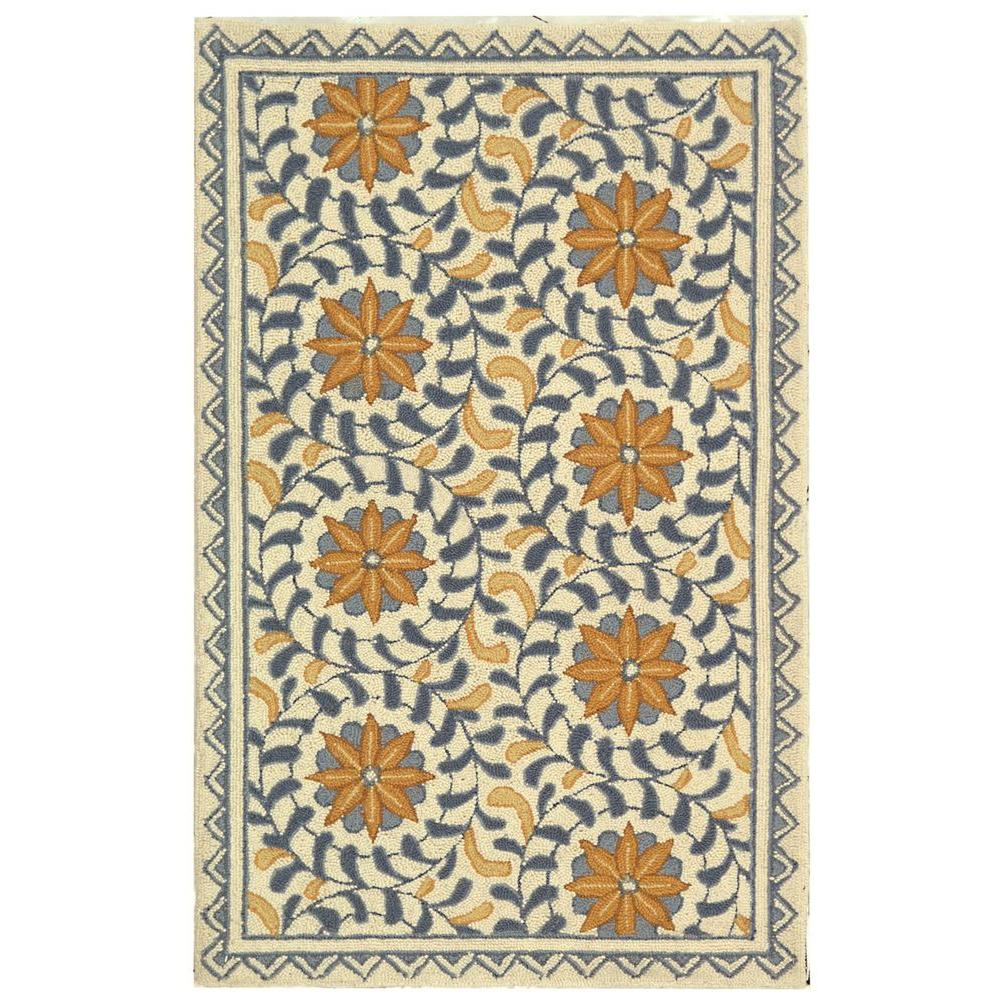 Chelsea Ivory/Blue 2 ft. 6 in. x 4 ft. Area Rug