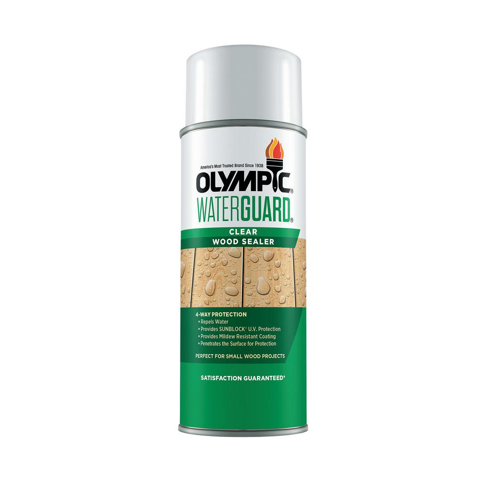 Olympic Waterguard 11 Oz Clear Wood Sealer Spray 55260xis 54 The Home Depot