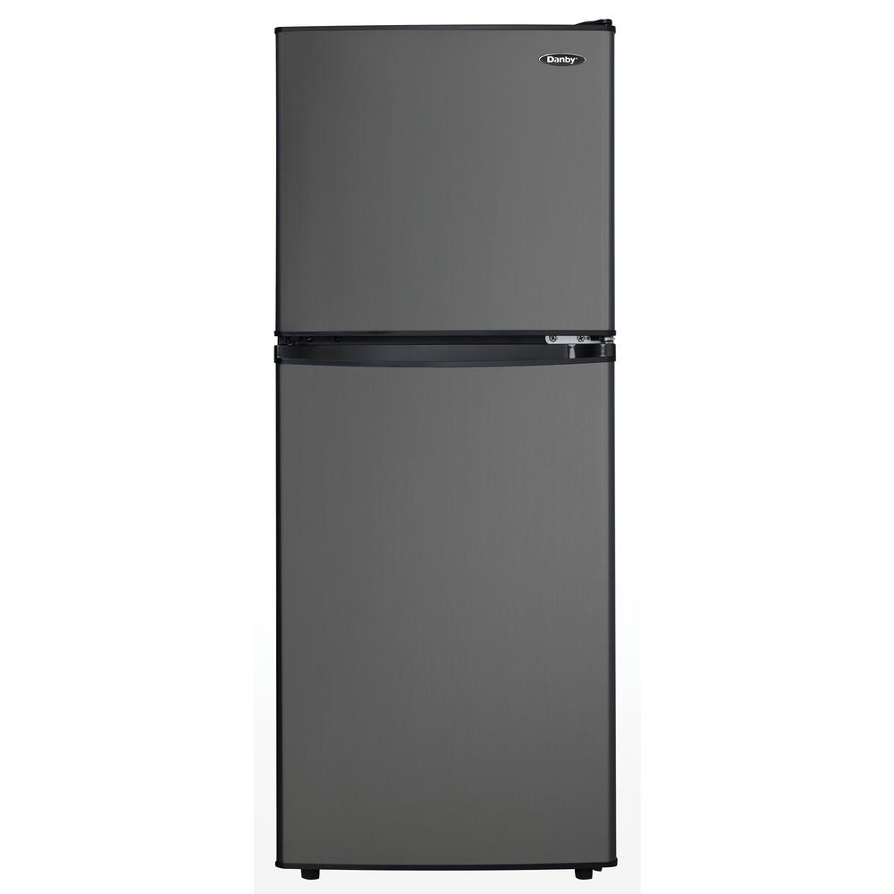 8dfe7261c62 Danby 4.7 cu. ft. 2-Door Mini Fridge in Black Stainless Steel ...