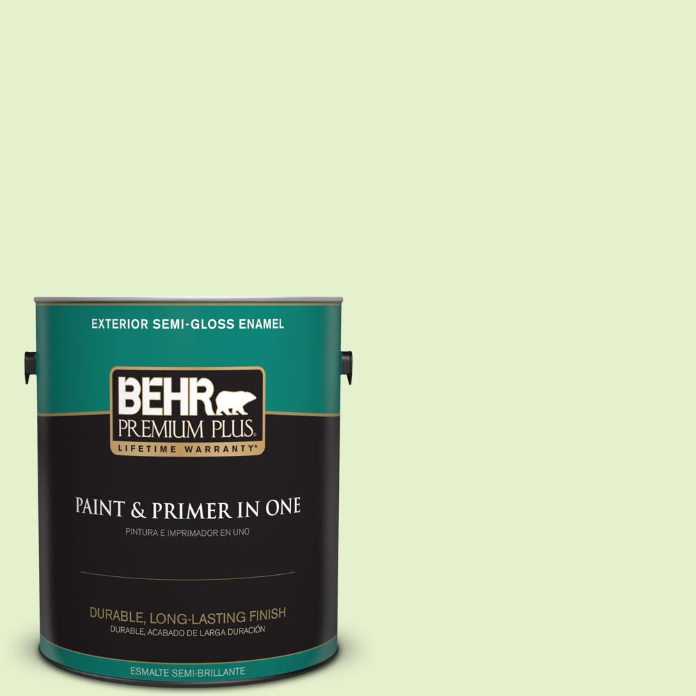 1-gal. #420C-2 Water Sprout Semi-Gloss Enamel Exterior Paint