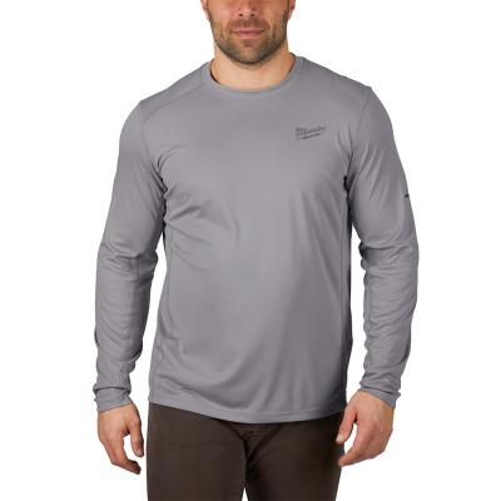 Gen II Men's Work Skin Medium Gray Light Weight Performance Long-Sleeve T-Shirt