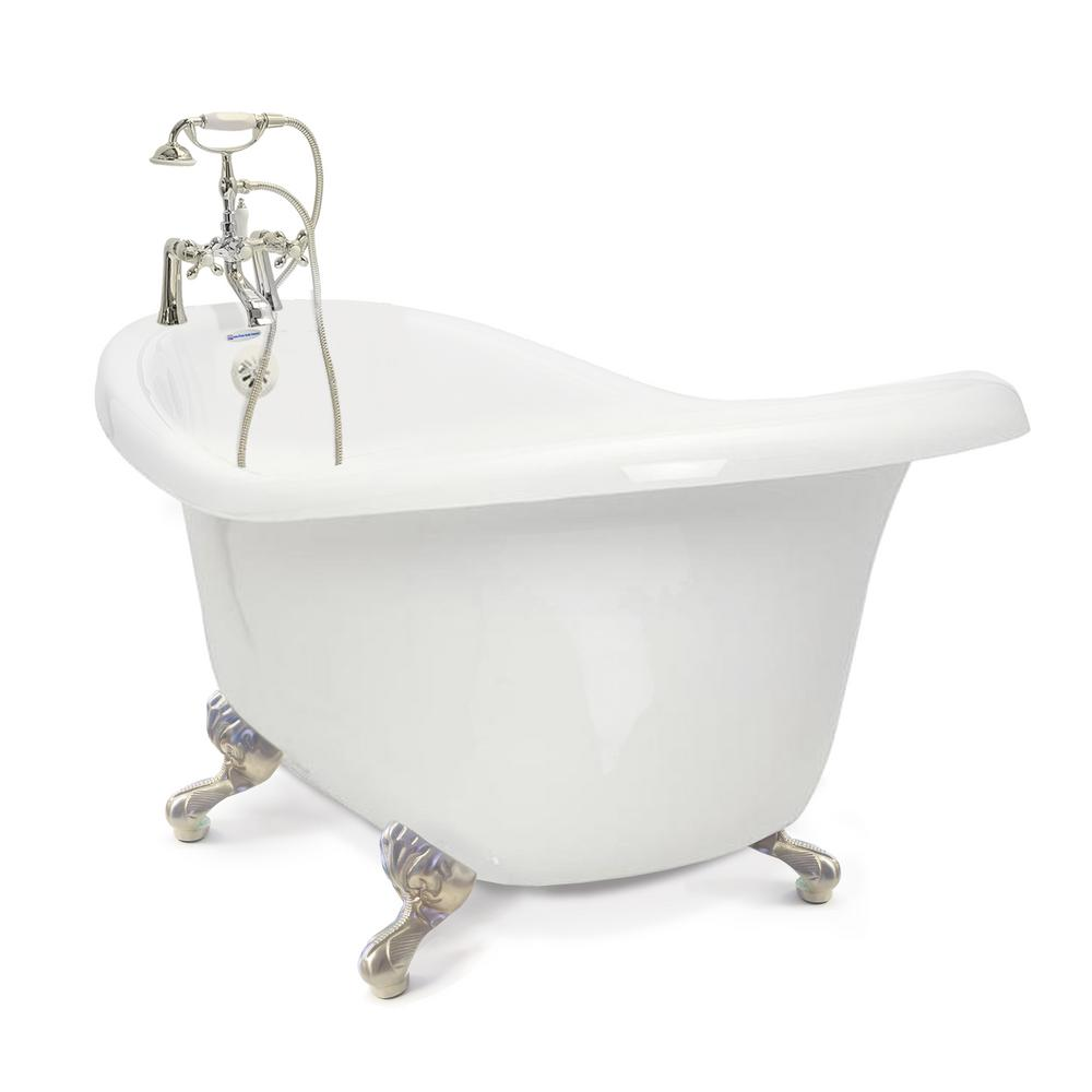 American bath factory chelsea 60 in acrylic slipper for 4 foot bath tub