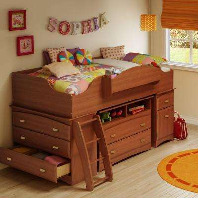 Imagine 4-Drawer Morgan Cherry Twin-Size Loft Bed