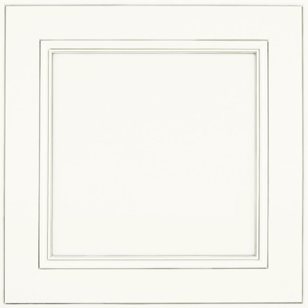 14-9/16 in. x 14-1/2 in. Cabinet Door Sample in MacArthur Painted Pewter Glaze