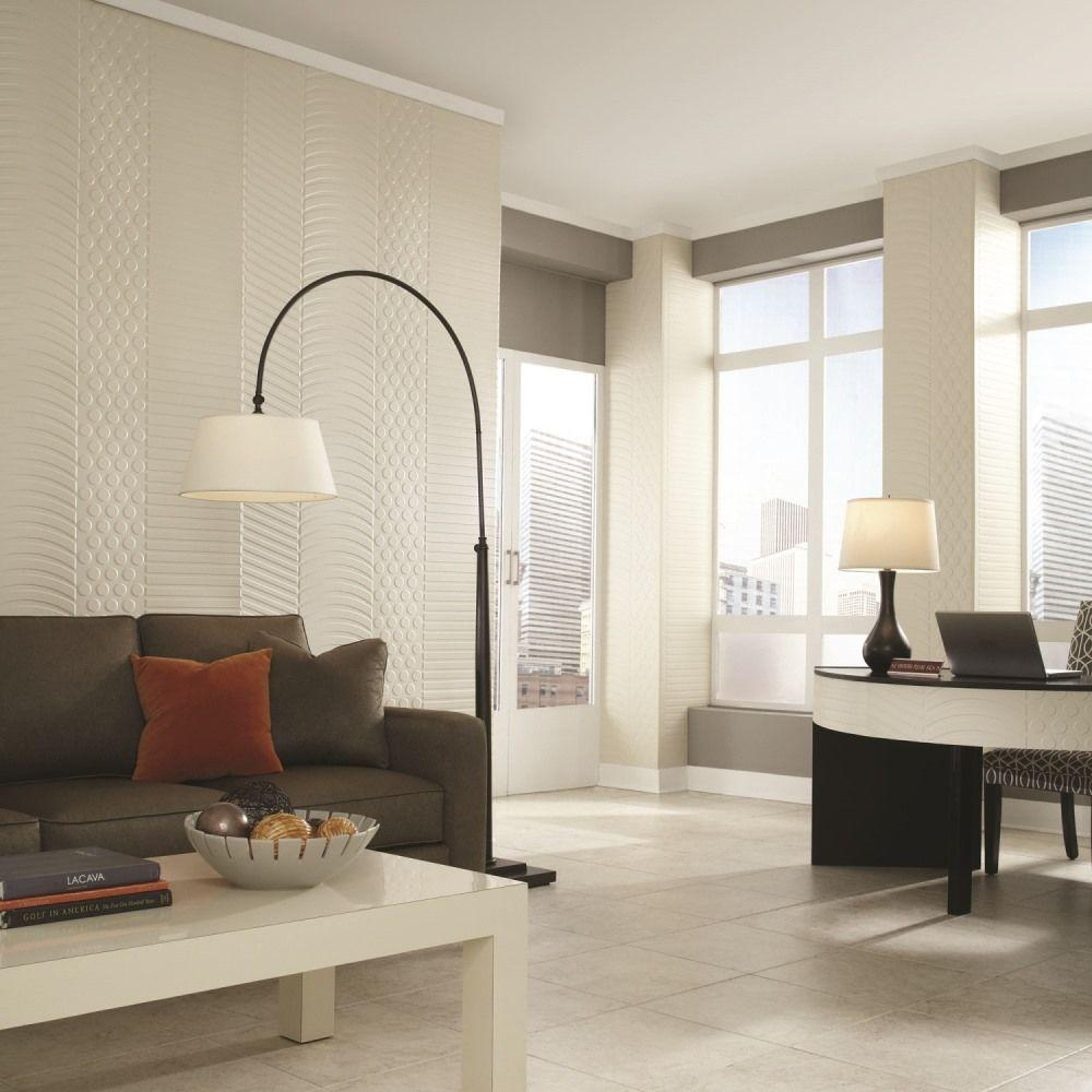 Fasade Nexus 96 in. x 48 in. Decorative Wall Panel in Smoked Pewter