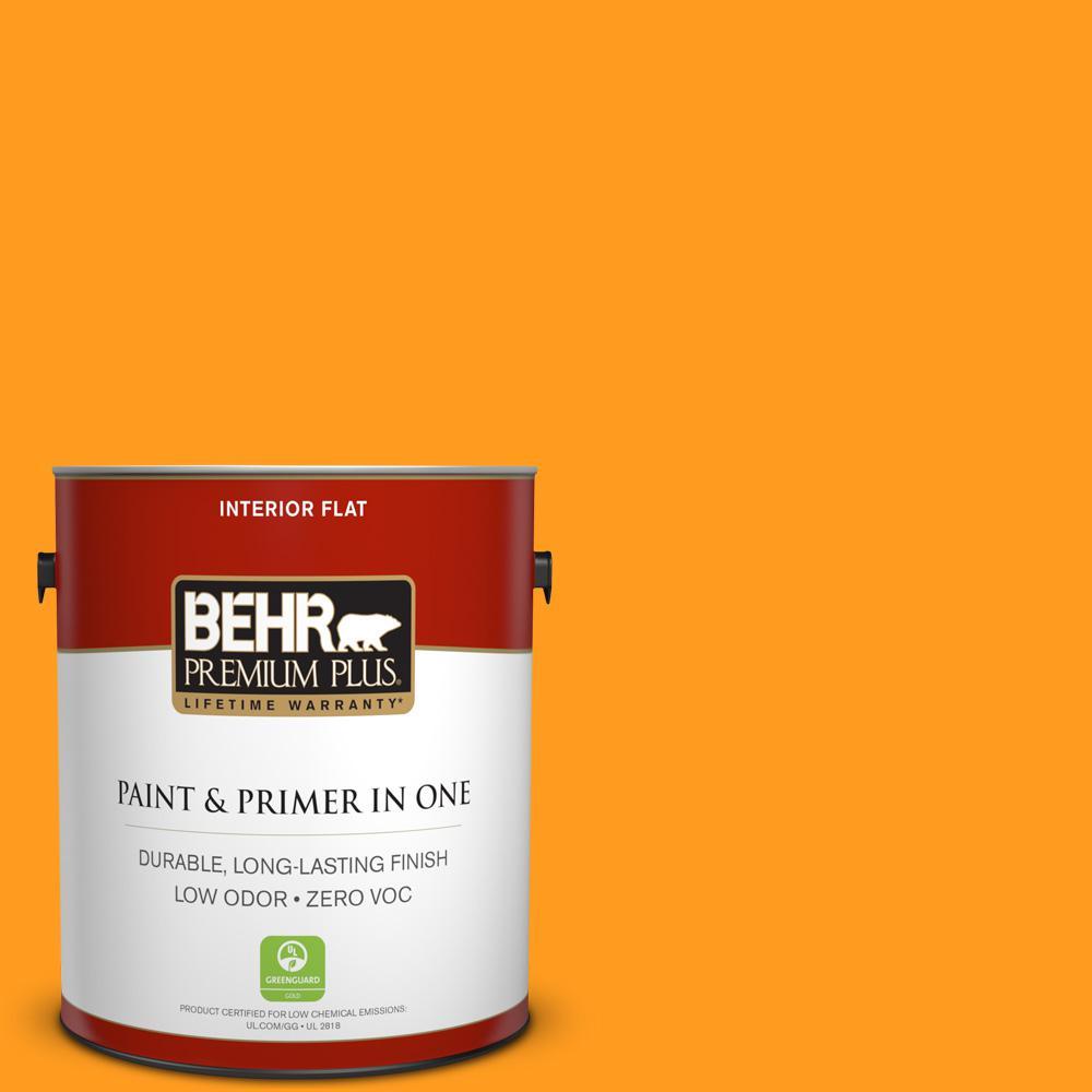 BEHR Premium Plus 1-gal. #S-G-290 Orange Peel Zero VOC Flat Interior Paint